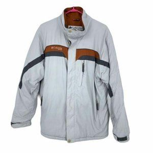 Columbia puffy grey winter coat orange thick